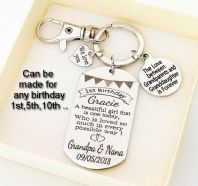 Granddaughter Birthday Personalized  Keyring - Boxed